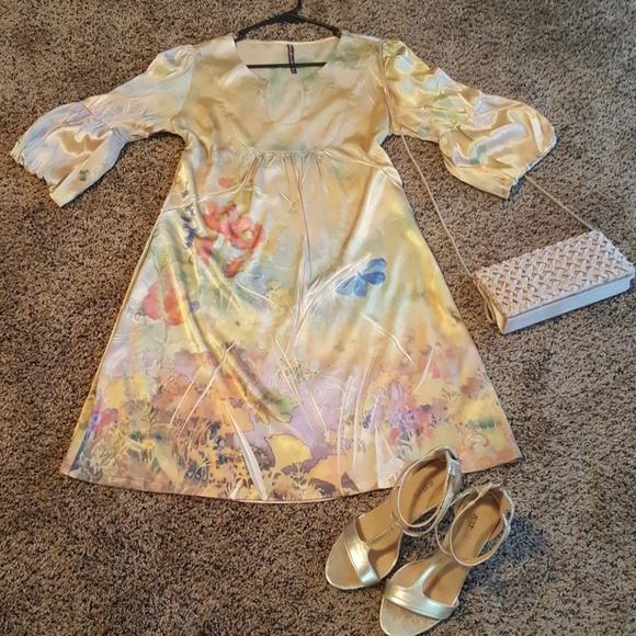 Mushka by Sienna Rose Dresses & Skirts - Sexy Satin Midi Dress